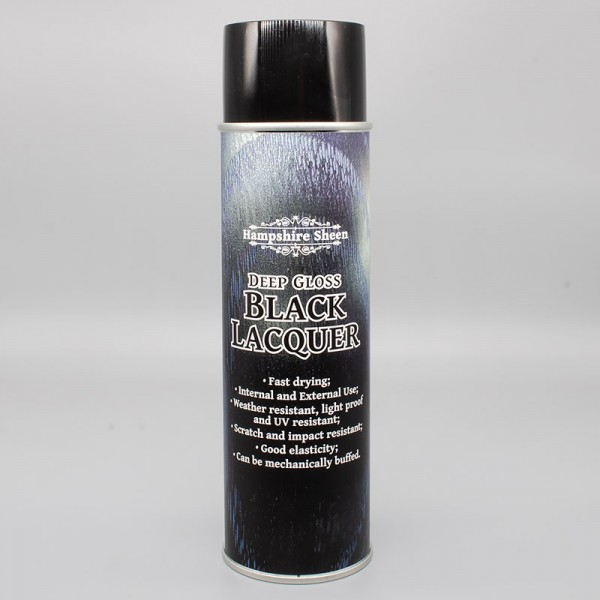 Deep Gloss Black Acrylic Lacquer 500ml Aerosol