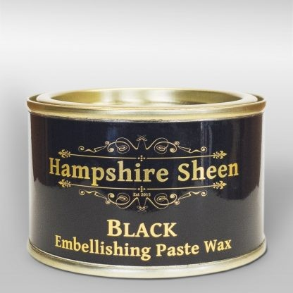 Black embellishing wax