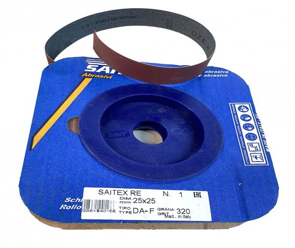 Sait cloth backed abrasive. 25mm x 25 metre roll