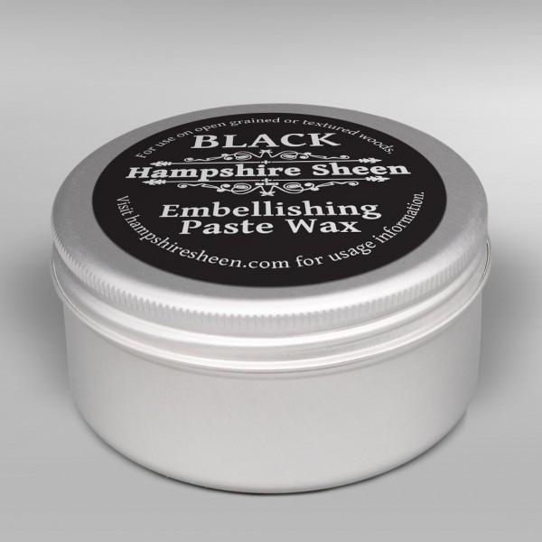 Black embellishing wax