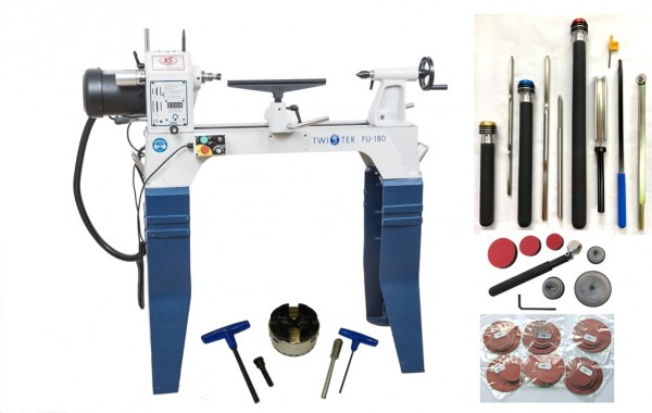 Lathe set up with twister 180
