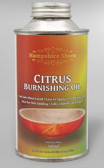 Citrus burnishing oil